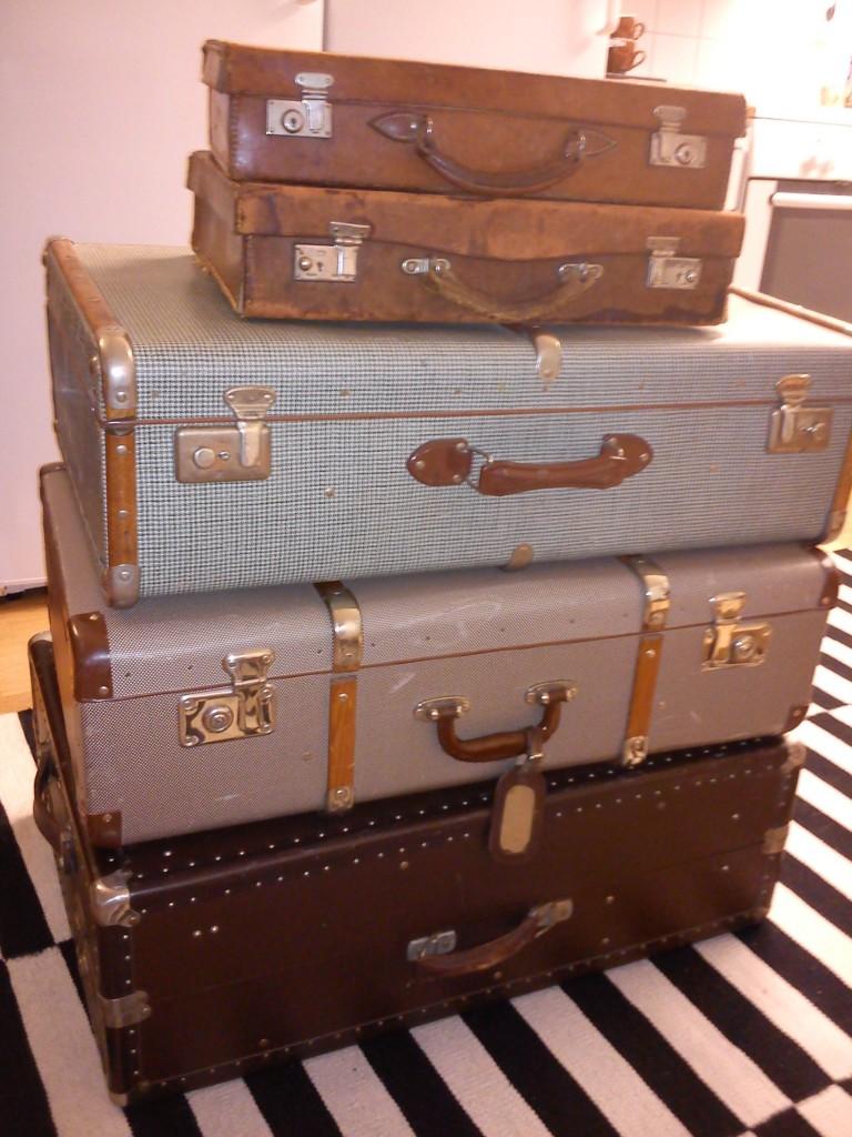 Blandade koffertar/resväskor